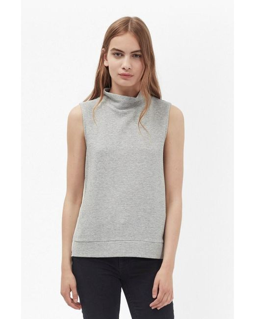 French Connection | Gray Sudan Sunray Sleeveless Jumper | Lyst