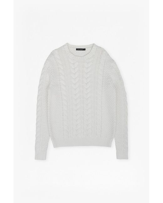 French Connection   White Flux Cable Knit Jumper for Men   Lyst