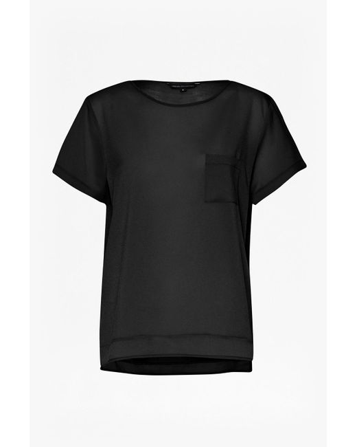 French Connection | Black Polly Plains Pocket T-shirt | Lyst