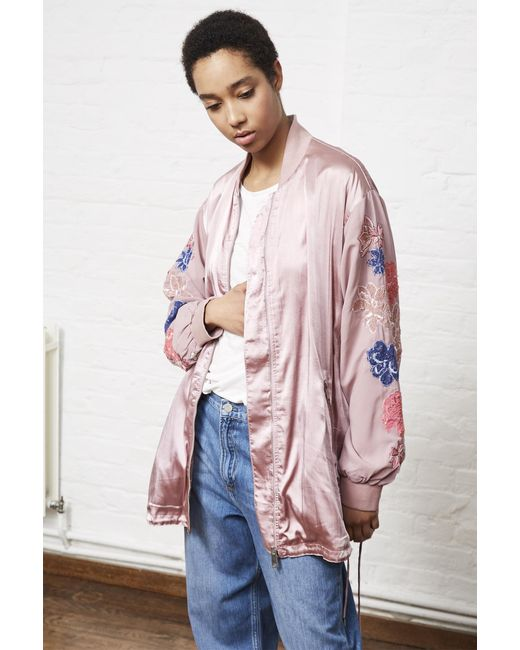 French Connection - Pink Shikoku Stitch Oversized Jacket - Lyst
