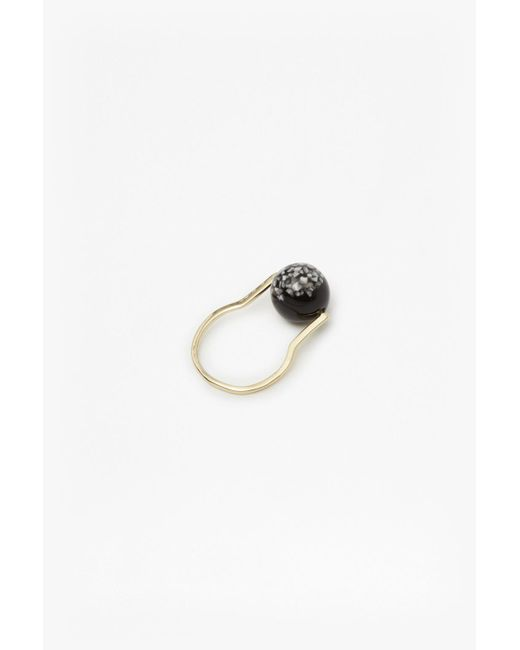 French Connection | Metallic Geo Resin Ball Ring | Lyst
