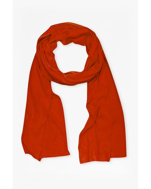 French Connection | Red Walter Linen-blend Scarf | Lyst