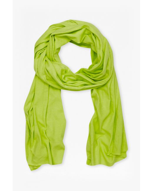 French Connection   Green Walter Linen-blend Scarf   Lyst