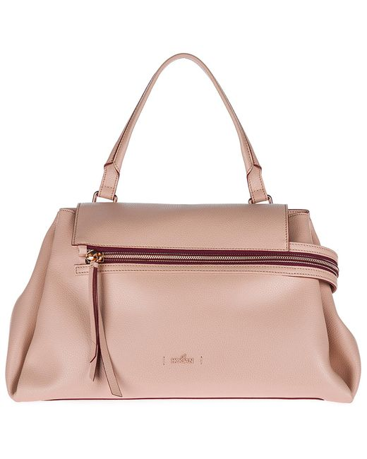 Hogan - Pink Leather Shoulder Bag Clubbing - Lyst ... 763b9a1d475ec