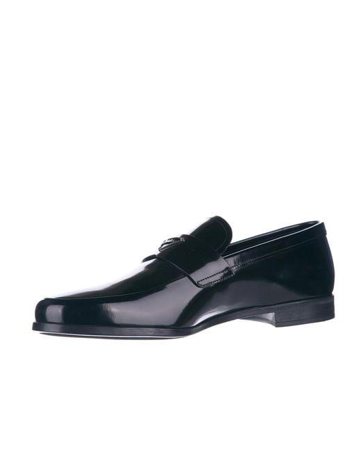 Prada Spazzolato Fume Leather Loafers uwa5zzPW