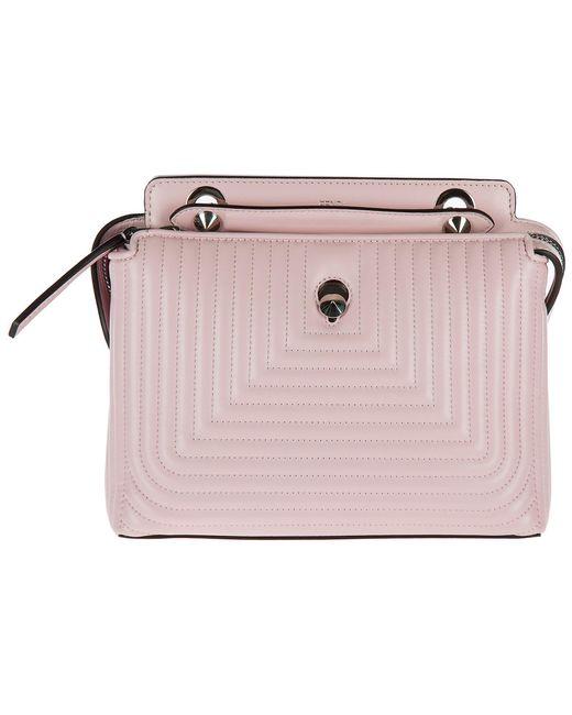 Fendi - Pink Leather Shoulder Bag Dotcom Nappa Shiny - Lyst