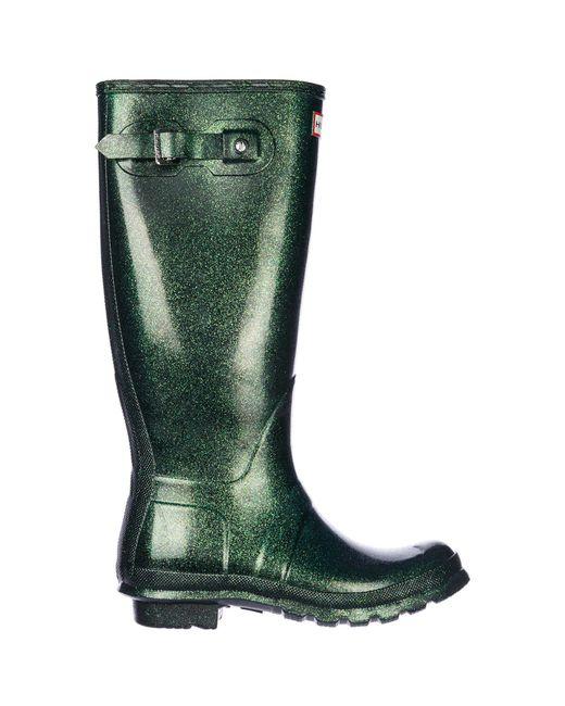 Hunter - Green Rubber Rain Boots Original Starcloud Tall - Lyst