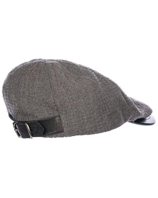 ee4b2a33683 ... Emporio Armani - Gray Flat Hat Sboy Cap Gatsby for Men - Lyst ...