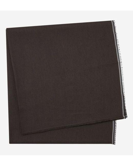 Azzaro - Brown Echarpe à teneur en laine et galons contrastants for Men - Lyst