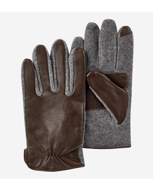 Polo Ralph Lauren - Brown Gants tactiles en cuir et laine for Men - Lyst