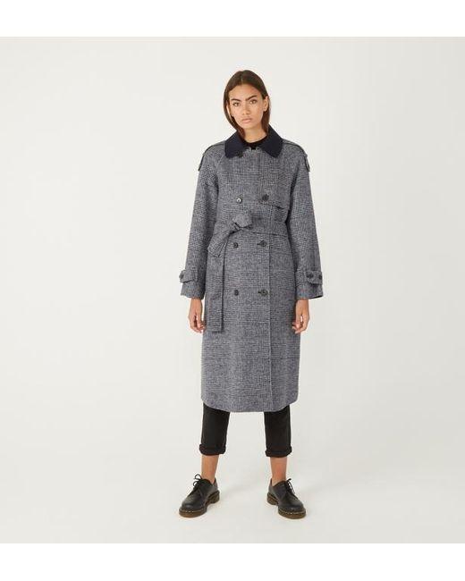 brillance des couleurs sélectionner pour l'original plusieurs couleurs Manteau en drap de laine imprimé Prince de Galles femme de coloris gris