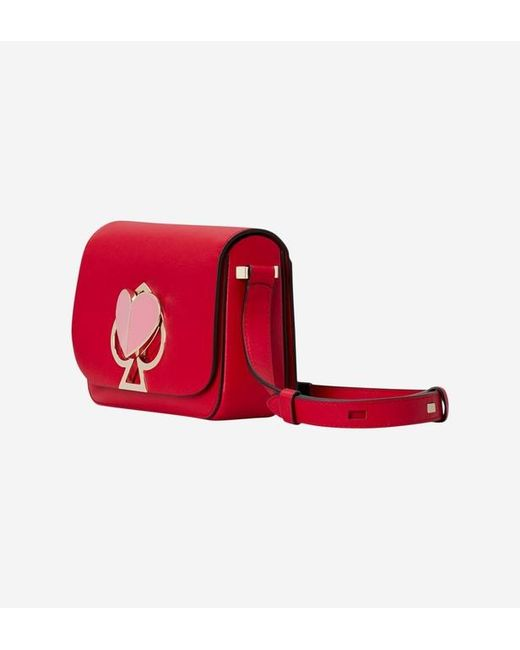 12163fe2bb Sac besace Nicola cuir Kate Spade en coloris Rouge - Lyst
