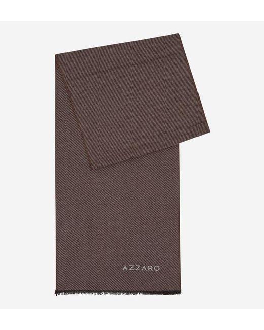 Azzaro - Brown Echarpe à rayures contrastantes en biais for Men - Lyst
