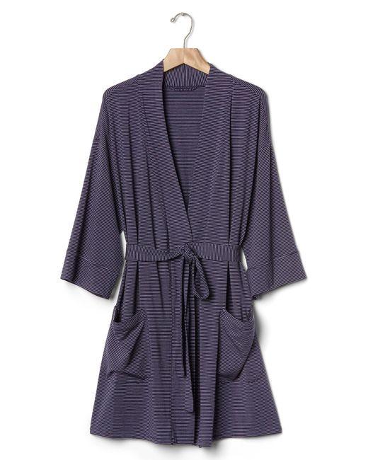 gap modal robe in purple purple stripe lyst With robe gap
