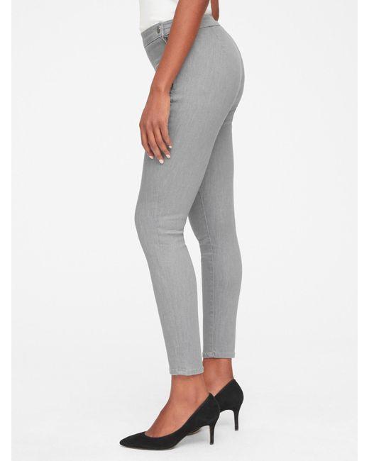 6fdd652339b Lyst - Gap High Rise True Skinny Ankle Jeans In Sculpt in Gray