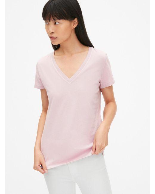 341d88203f6d1d Gap - Multicolor Vintage Wash V-neck T-shirt - Lyst
