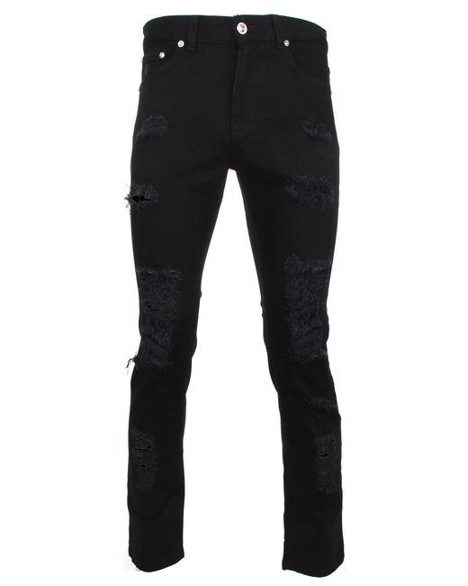 Versus  | Ripped Denim Jeans Black for Men | Lyst