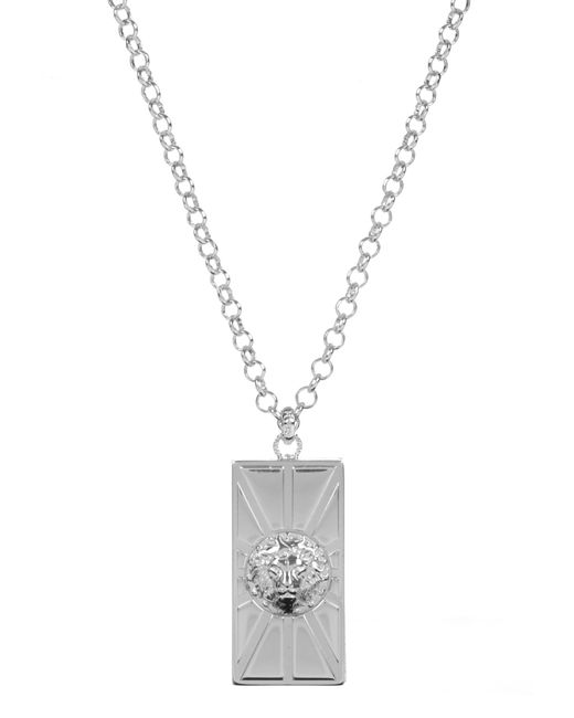 Versus  | Metallic Lion Head Sun Necklace Silver | Lyst