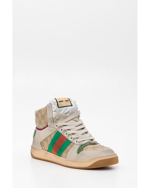 7be8e62c5 ... Lyst Gucci - Multicolor Men's Screener GG High-top Sneaker for Men ...