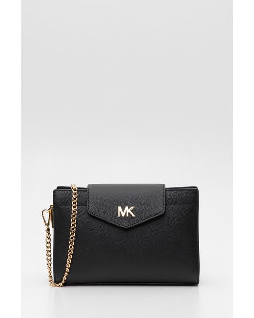 6ea86d090662 MICHAEL Michael Kors - Black Grossgrain Leather Crossbody Bag - Lyst ...
