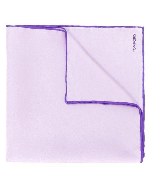 Tom Ford - Purple Contrast Hem Pocket Square for Men - Lyst