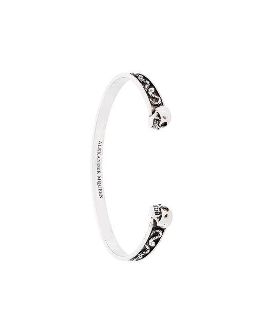Alexander McQueen | Multicolor Engraved Twin Skull Bracelet for Men | Lyst