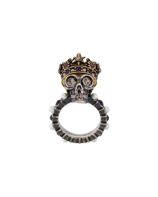 Alexander McQueen   Multicolor King Skull Ring   Lyst
