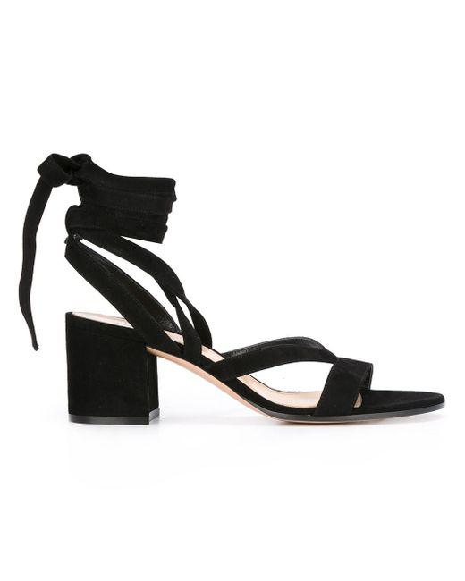 Gianvito Rossi - Black Janis Low Sandals - Lyst