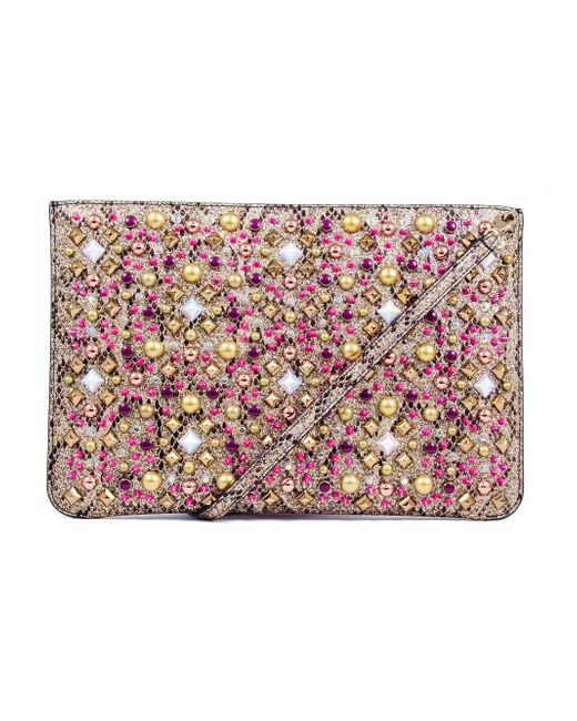 Christian Louboutin - Multicolor Embellished Clutch Bag - Lyst