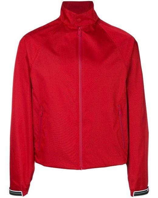 Prada - Red Zip Bomber Jacket for Men - Lyst