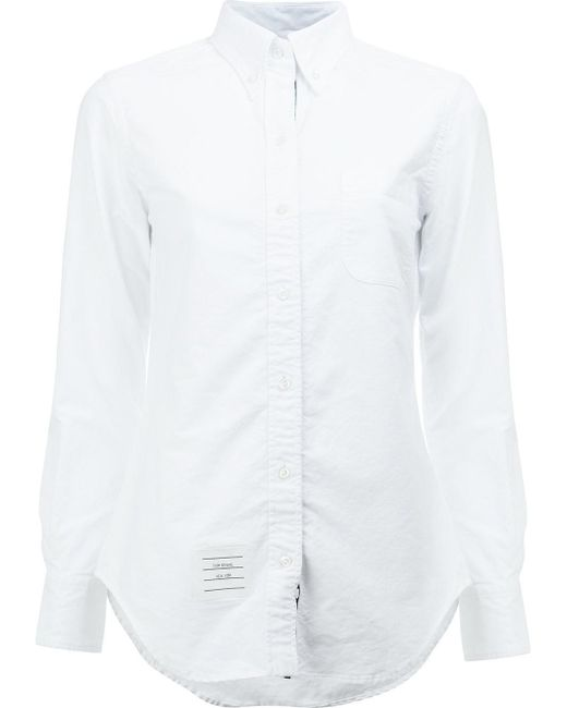 Thom Browne - White Cotton Shirt - Lyst