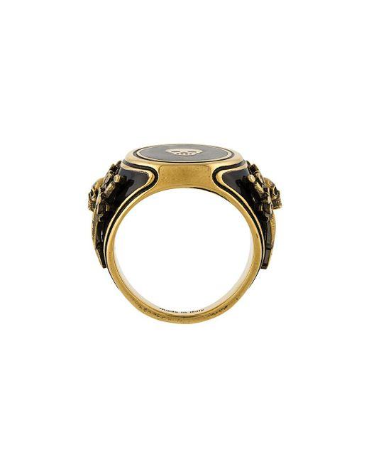 Alexander McQueen   Metallic Signet Ring for Men   Lyst