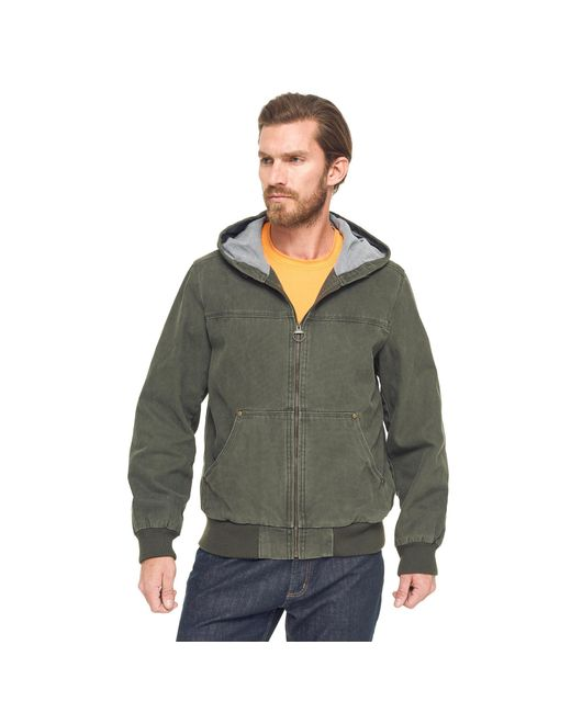 G.H. Bass & Co.   Green Canvas Hooded Bomber Jacket for Men   Lyst