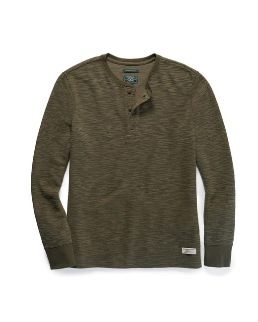 G.H. Bass & Co. | Green Long Sleeve Textured Henley for Men | Lyst