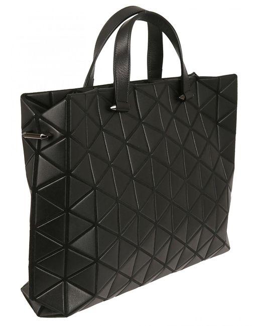 ... Bao Bao Issey Miyake - Black Tonneau Matte Small Boston Bag - Lyst ... 23423aa74e7d3