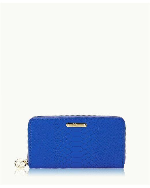 Gigi New York - Blue Large Zip Around Wallet - Lyst