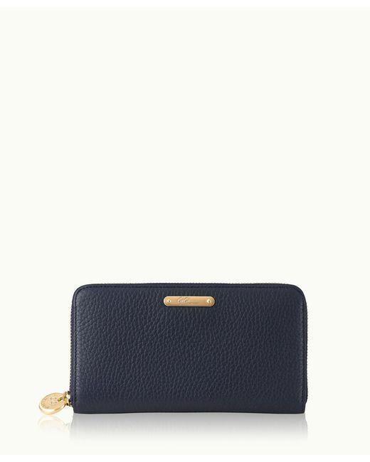 Gigi New York | Blue Large Zip Around Wallet | Lyst