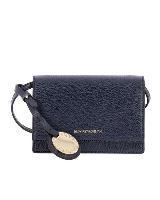 efc431ef4780 Emporio Armani - Blue Mini Bag Shoulder Bag Women - Lyst ...