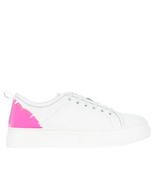 MSGM - White Sneakers Women - Lyst