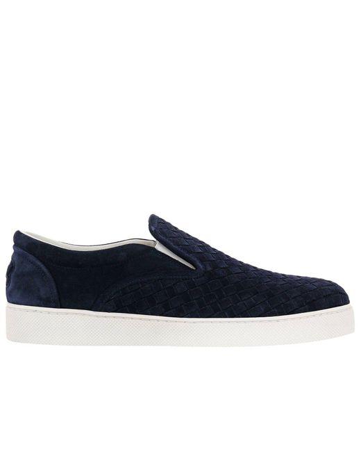 Bottega Veneta - Blue Sneakers Shoes Men for Men - Lyst