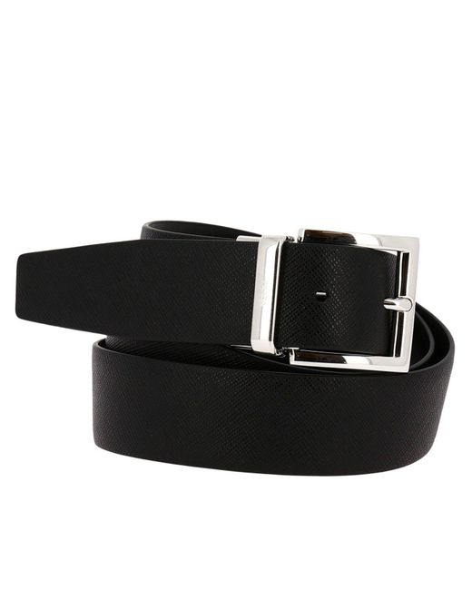 e0d30cf5ad837 ... free shipping prada black belt men for men lyst 83d7f 5714c