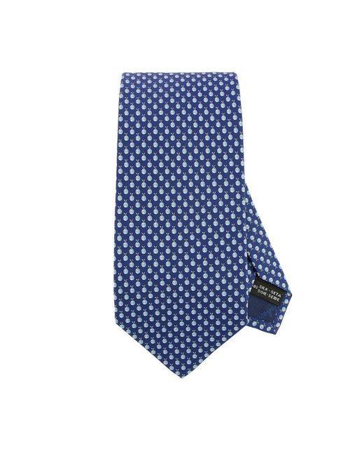 Ferragamo - Blue Ladybug Pattern Tie In Pure Silk 8 Cm for Men - Lyst