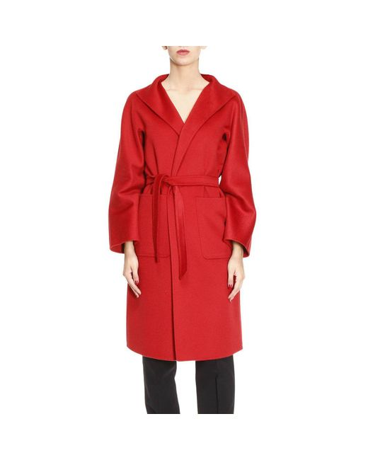 Max Mara | Red Coat Women | Lyst