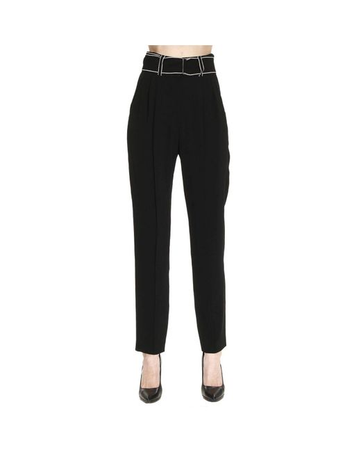 Emporio Armani - Black Pants Trouser Women - Lyst