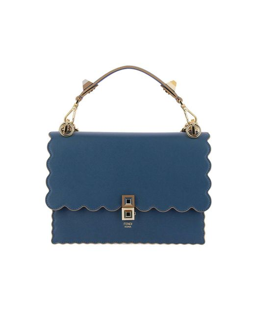 2fb4b97e7b75 Fendi - Blue Handbag Shoulder Bag Women - Lyst ...
