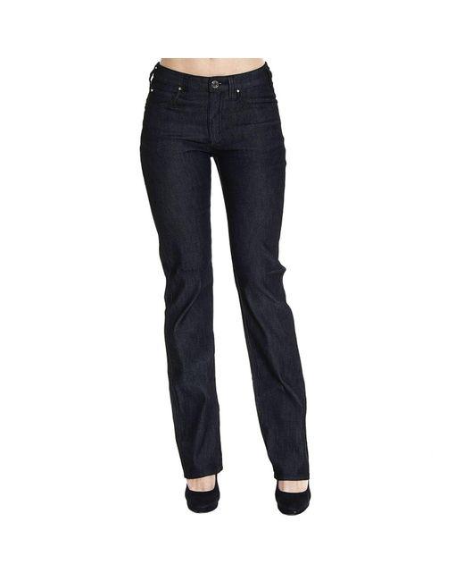 Armani Jeans | Black Jeans Denim Waist High Gamba Dritta Stretch Basic | Lyst