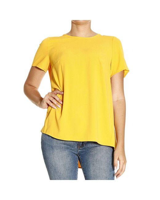 MICHAEL Michael Kors | Yellow Top Girocllo Half Crew-neck | Lyst