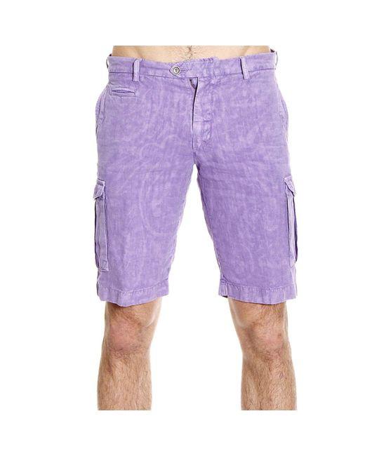 Etro | Purple Trouser Pants Short Cargo Linen for Men | Lyst