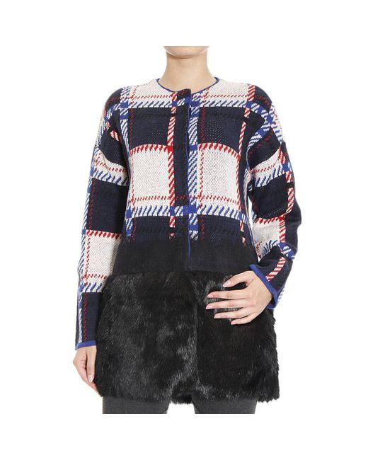 Armani Jeans | Black Faux-Fur Cape | Lyst