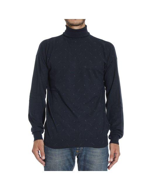 Armani | Blue Giorgio Armani Men's Sweater for Men | Lyst